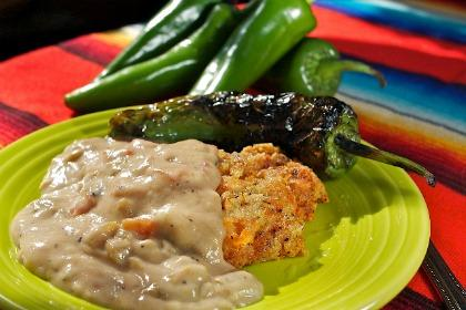 Green Chile Biscuit Gravy