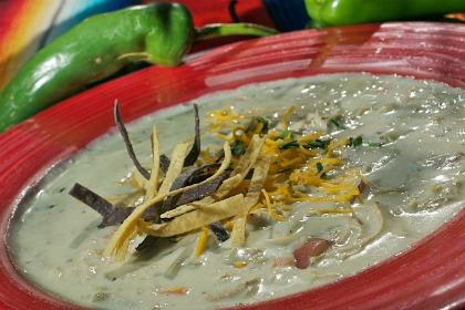 White Chile Soup with Green Chile