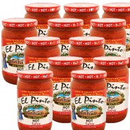 El Pinto 12 Pack of Hot Salsa